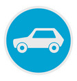 white car icon flat style vector image