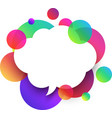white speech cloud background with colour bubbles vector image