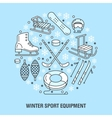 Winter sports banner equipment rent at ski resort vector image vector image
