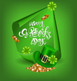 greeting card design with creative text happy st vector image