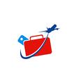 travel plane ticket logo vector image