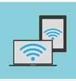 wifi laptop and tablet background vector image