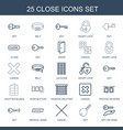 25 close icons vector image vector image