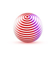 3d Sphere with Texture Ball isolated on white vector image