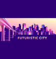 abstract buildings banner vector image vector image