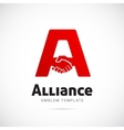 Alliance Concept Symbol Icon or Logo Template vector image vector image