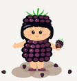 baby in a blackberry suit vector image
