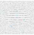 binary data view cybersecurity binary code vector image