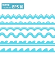 blue wave icons set on white background vector image