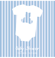 boy shower card vector image vector image