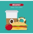 Breakfast food design vector image vector image