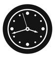 clock design icon simple black style vector image