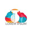 cloud brain lab logo design vector image vector image