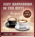 coffee advertisement art poster vector image vector image