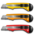 Cutter knife set vector image vector image