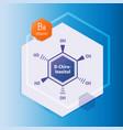 d-chiro-inositol formula icon on blue vector image