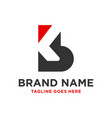 design a business logo with letter kb vector image vector image