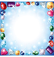 diamonds frame vector image vector image