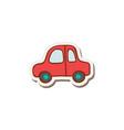 doodle car vector image