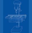drilling machine concept vector image