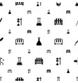 experiment icons pattern seamless white background vector image vector image