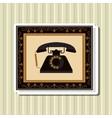 Flat about vintage phone design vector image