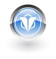 glossy icon triangle polygon vector image