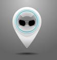 glossy sunglasses icon vector image