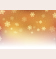 golden christmas snowflakes vector image vector image
