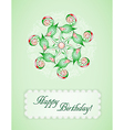 Greeting card with abstraction vector image vector image