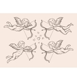 hand-drawn sketch classic Cupid angel vector image vector image