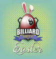 happy easter billiard ball in form a egg vector image vector image