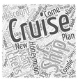 Honeymooning on a Cruise Ship Word Cloud Concept vector image vector image