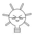 kawaii light bulb vector image vector image