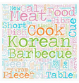 Korean cue text background wordcloud concept vector image vector image