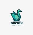 logo duck gradient line art style vector image