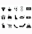 luxury shopping icons set vector image vector image