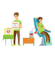 man and woman supporters volunteering vector image