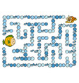 maze game for children fish vector image vector image