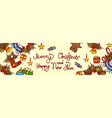 merry christmas and happy new year lettering text vector image vector image