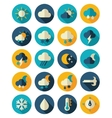 Meteorology Weather flat icons set vector image vector image