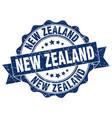 new zealand round ribbon seal vector image vector image