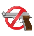 No guns allowed sign vector image vector image