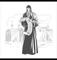 orthodox monk orthodox priest vector image vector image