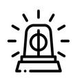 police squad car alarm icon outline vector image vector image