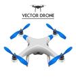 Realistic Drone Quadrocopter UAV concept art vector image