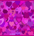repeating random valentines day background vector image vector image