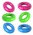 rubber swimming ring isolated set rubber vector image