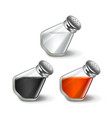 Salt and pepper isolated on white vector image