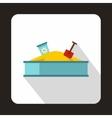 Sandbox icon flat style vector image vector image